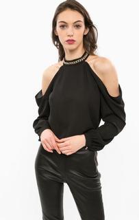 Черная блуза с открытыми плечами Marciano Guess