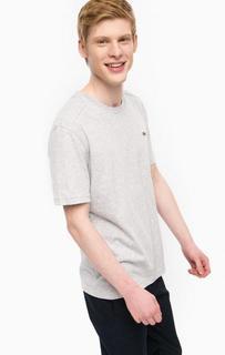 Серая футболка с короткими рукавами Lacoste
