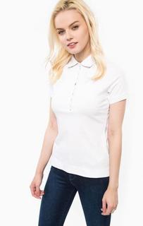 Белая футболка поло с короткими рукавами Barbour