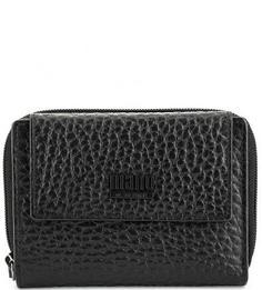 Черный кошелек из фактурной кожи Mano