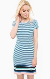 Платье-футболка из хлопка в полоску Barbour