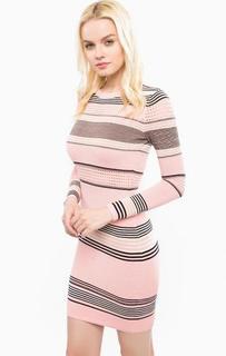 Короткое платье из хлопка в полоску Juicy Couture