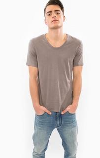 Серая футболка с короткими рукавами Drykorn