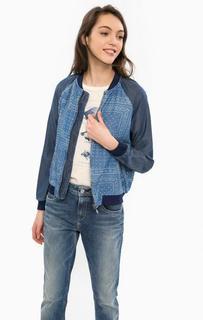 Синяя куртка с эластичными манжетами Pepe Jeans