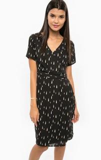Черное платье с запахом Sugarhill Boutique