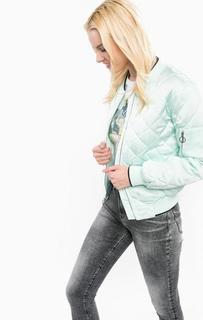 Куртка-бомбер мятного цвета с вышивкой на спине Juicy by Juicy Couture