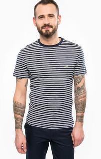 Хлопковая футболка с короткими рукавами Lacoste