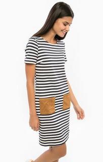 Хлопковое платье с накладными карманами Sugarhill Boutique