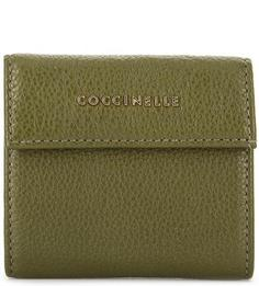 Кожаный кошелек цвета хаки Coccinelle