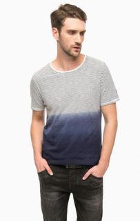 Хлопковая футболка в полоску Cinque