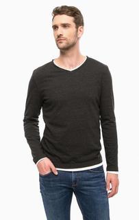 Хлопковая футболка с длинными рукавами Cinque