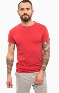 Красная хлопковая футболка Tommy Hilfiger