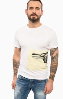 Белая футболка с короткими рукавами Pepe Jeans