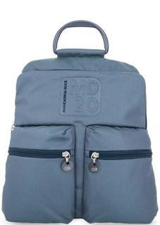 Синий текстильный рюкзак с широкими лямками Mandarina Duck