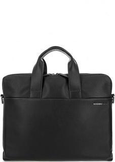 Кожаная сумка с отделениями для ноутбука и планшета Mandarina Duck