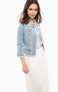 Джинсовая куртка на кнопках с карманами-обманками Liu Jo
