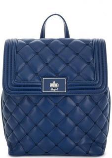 Синий стеганый рюкзак с откидным клапаном Blugirl