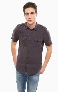Льняная рубашка с короткими рукавами Replay