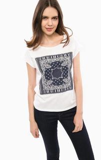 Белая футболка с короткими рукавами Liu Jo