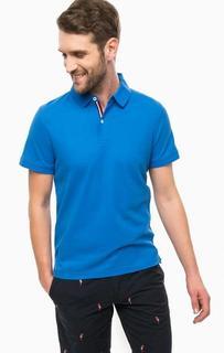 Синяя футболка поло из хлопка Tommy Hilfiger