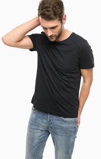 Базовая синяя футболка из хлопка Tommy Hilfiger