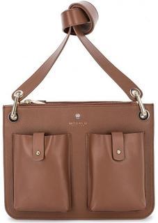 Коричневая кожаная сумка через плечо Modalu London