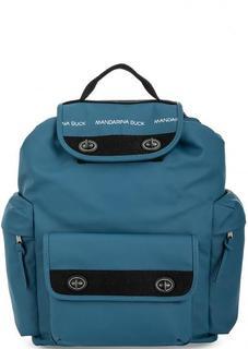 Вместительный синий рюкзак с широкими лямками Mandarina Duck