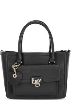 Черная сумка из искусственной кожи с брелком Blugirl