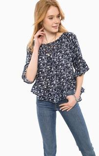 Блуза из вискозы с удлиненной спинкой D&S Ralph Lauren