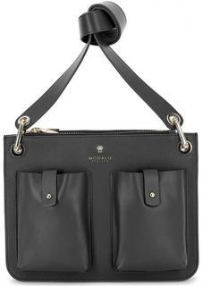 Черная кожаная сумка через плечо Modalu London