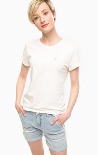 Базовая хлопковая футболка Hilfiger Denim