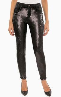 Рваные джинсы с отделкой пайетками Marciano Guess