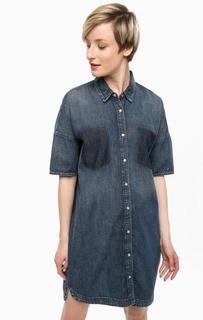 Джинсовое платье-рубашка на кнопках Hilfiger Denim