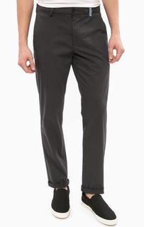 Серые зауженные брюки из хлопка Replay