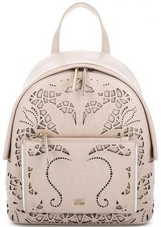 Бежевый кожаный рюкзак Cavalli Class