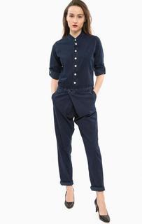 Синий джинсовый комбинезон с длинными рукавами G Star RAW