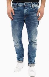 Синие зауженные джинсы с застежкой на болты G Star RAW