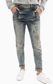 Синие джинсы бойфренд с потертостями G Star RAW