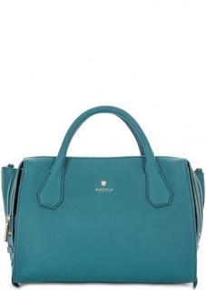 Бирюзовая сумка из натуральной кожи Modalu London