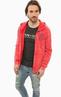 Красная толстовка на молнии с капюшоном D&S Ralph Lauren