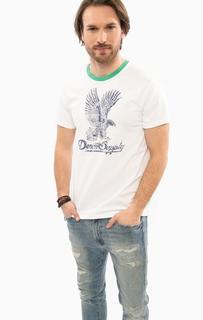 Белая футболка с короткими рукавами D&S Ralph Lauren