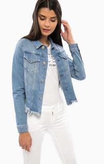 Джинсовая куртка с укороченной спинкой Guess