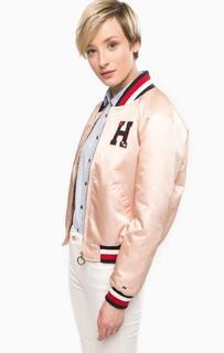 Однотонная куртка с нашивками Tommy Hilfiger