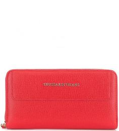 Красный кошелек с четырьмя отделами для купюр Trussardi Jeans