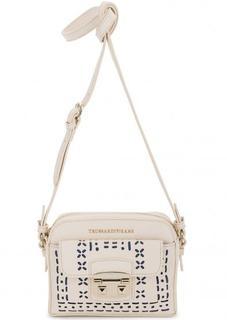 Маленькая сумка с декоративной перфорацией Trussardi Jeans