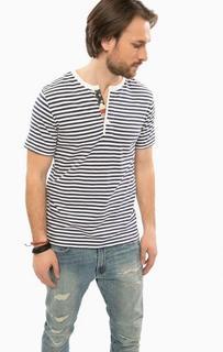 Хлопковая футболка в полоску D&S Ralph Lauren