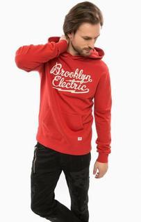 Красная толстовка с карманом-кенгуру D&S Ralph Lauren