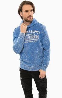 Синяя толстовка с карманом-кенгуру D&S Ralph Lauren