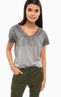 Хлопковая футболка с треугольным вырезом G Star RAW