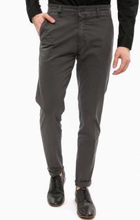 Хлопковые брюки чиносы серого цвета Liu Jo Uomo